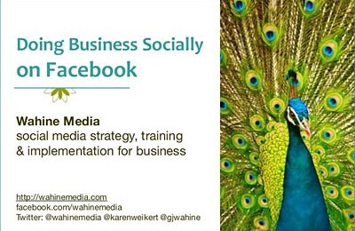 Doing Business Socially on Facebook